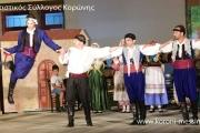 Χορευτική παράσταση του Πολιτιστικού Συλλόγου Κορώνης.